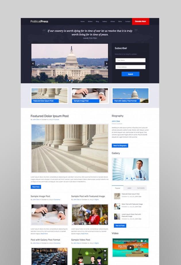 Political Press - Responsive WordPress Theme