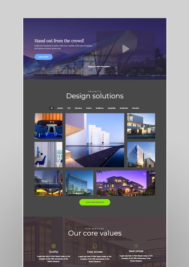 Interio  WordPress Architecture Theme