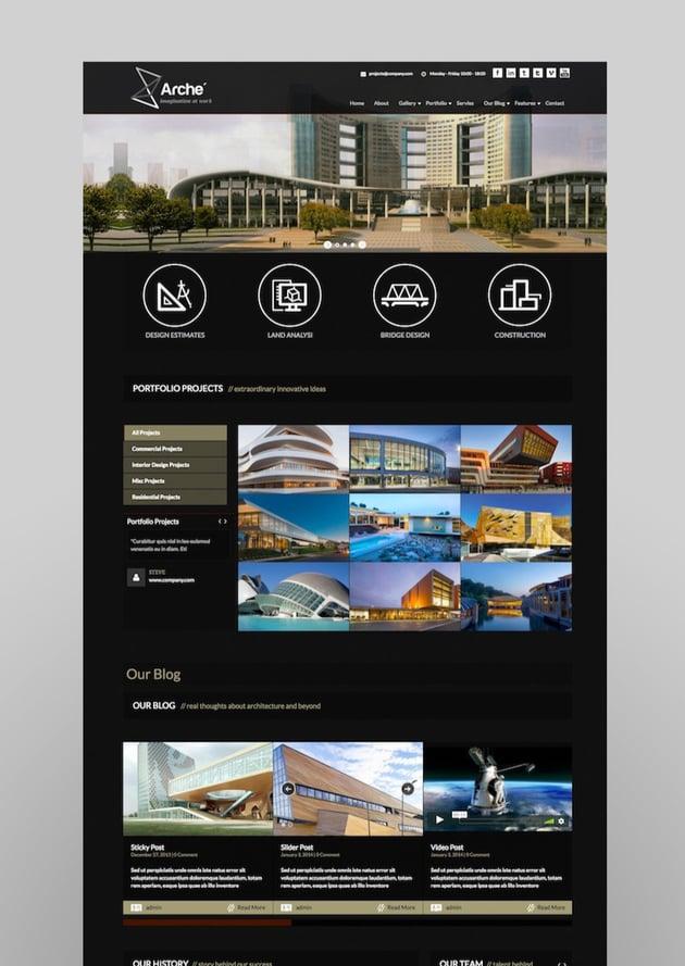 Arche - Architecture WordPress Responsive Theme