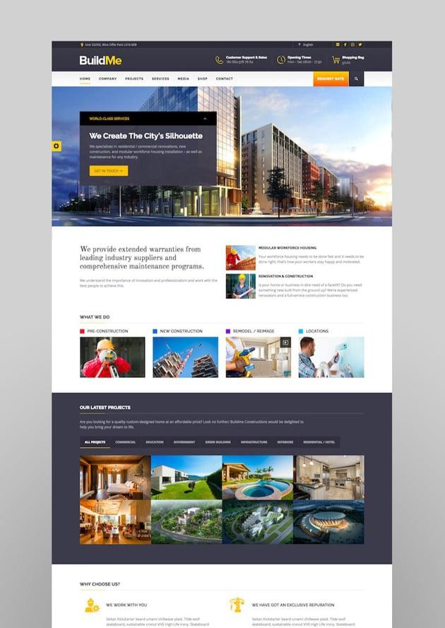 BuildMe - Construction  Architectural WP Theme