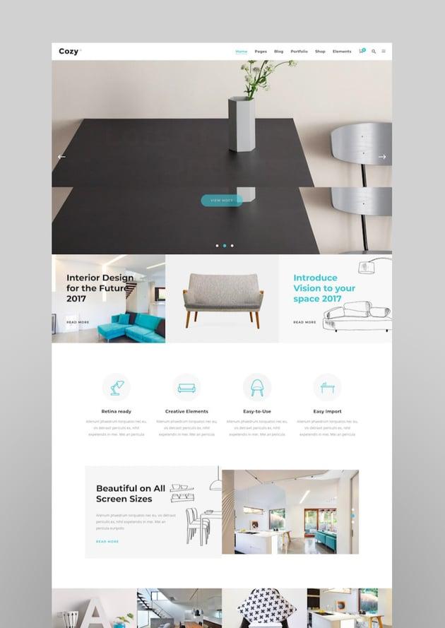 Cozy - Interior Design Decor Architecture Theme