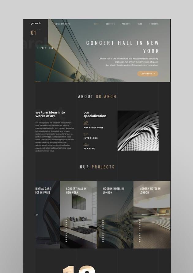 goarch - Architecture and Interior WordPress Theme