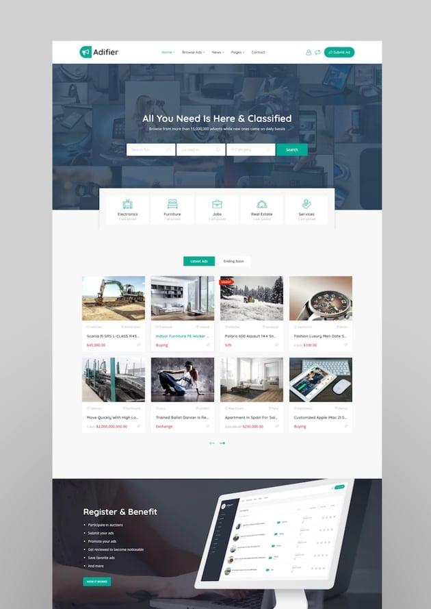 Adifier - Classified Ads WordPress Theme