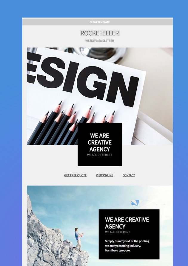 Rockefeller Creative Email Template