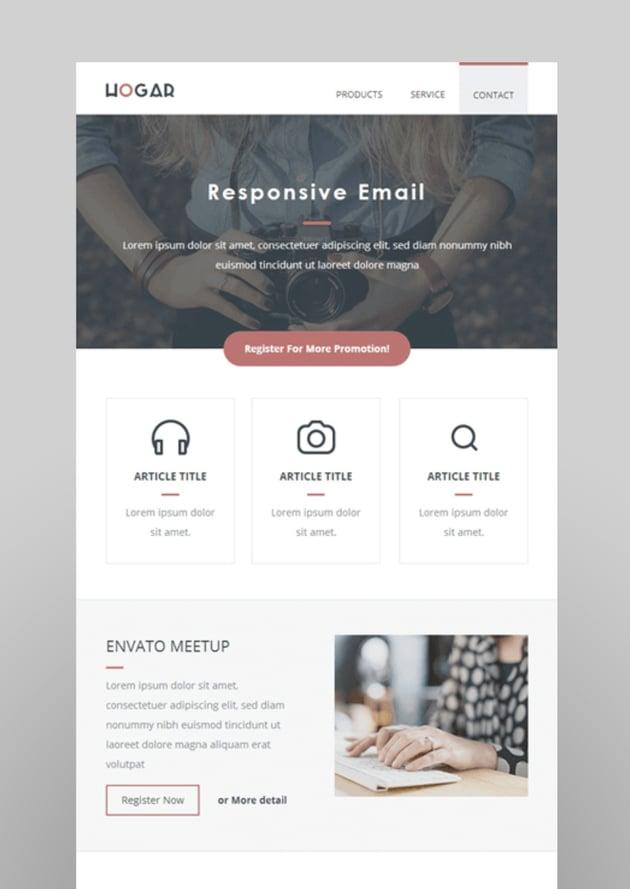 Hogar  Responsive Email Set