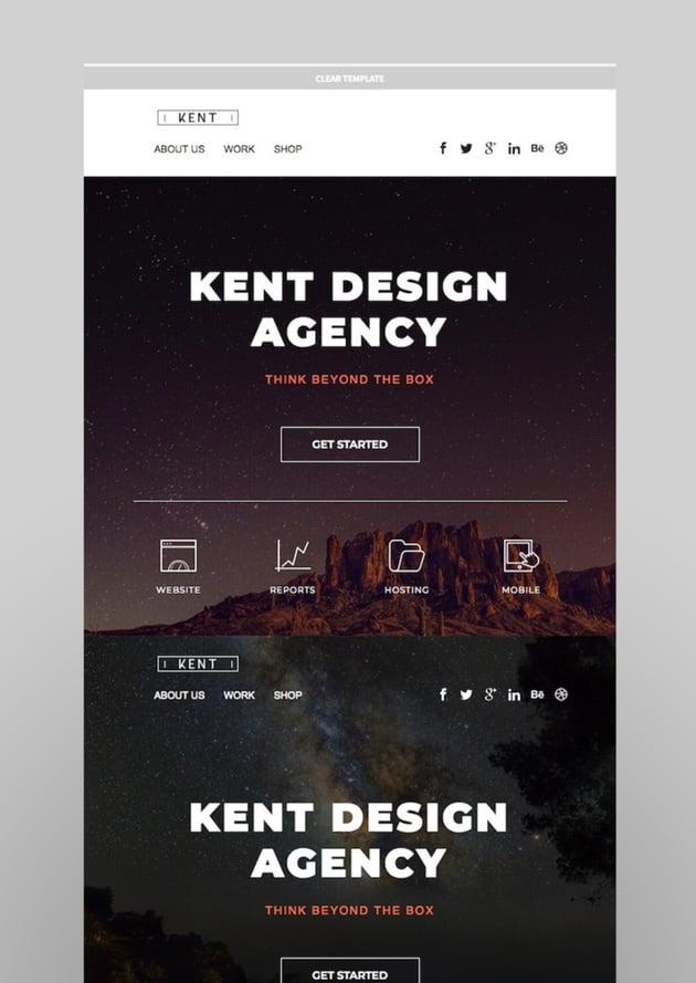 Kent - Responsive Email Set  StampReady Online Builder