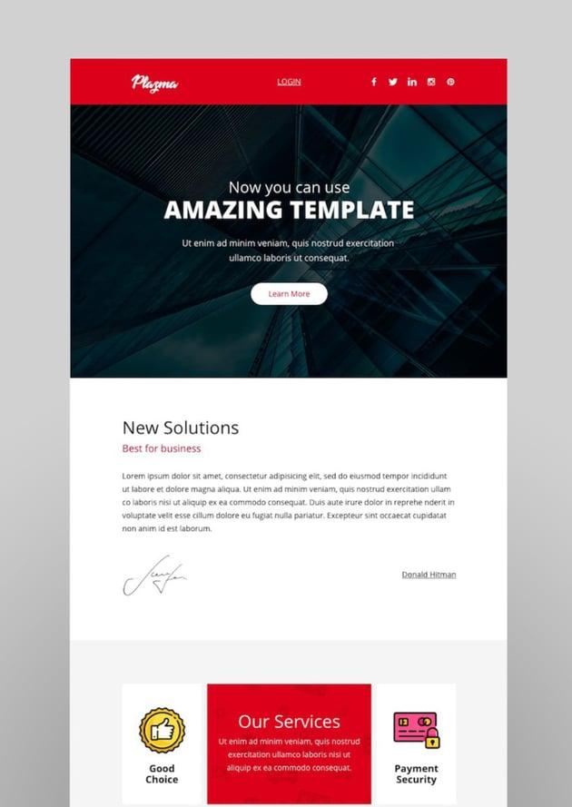 Plazma Email-Template  Online Builder