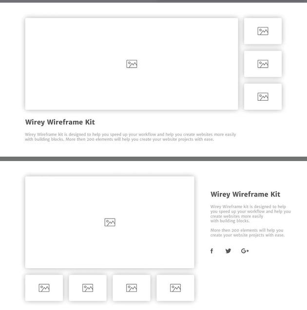 Wirey Wireframe Kit