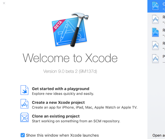 Welcome to Xcode 9