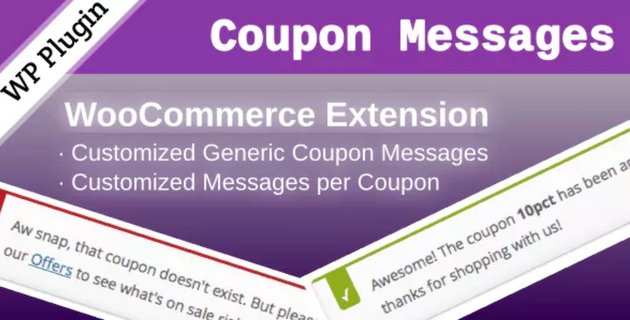 WooCommerce Coupon Messages plugin