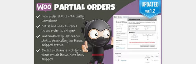 Woocommerce partial orders