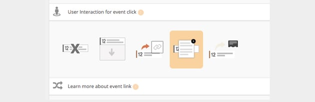 User Interaction for Event Click