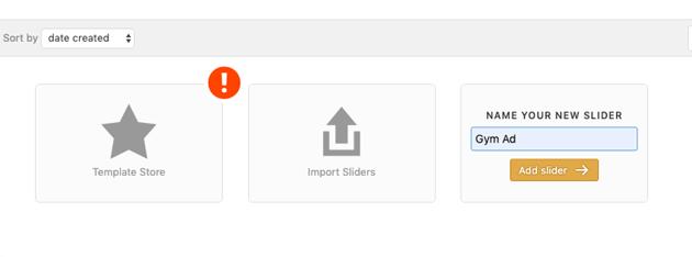 Creating Slider