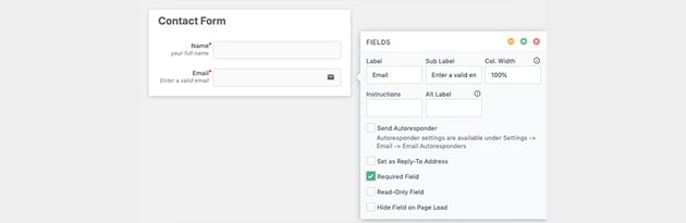 Adding In Email Field