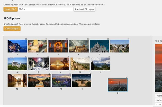 Added images to Flipbook