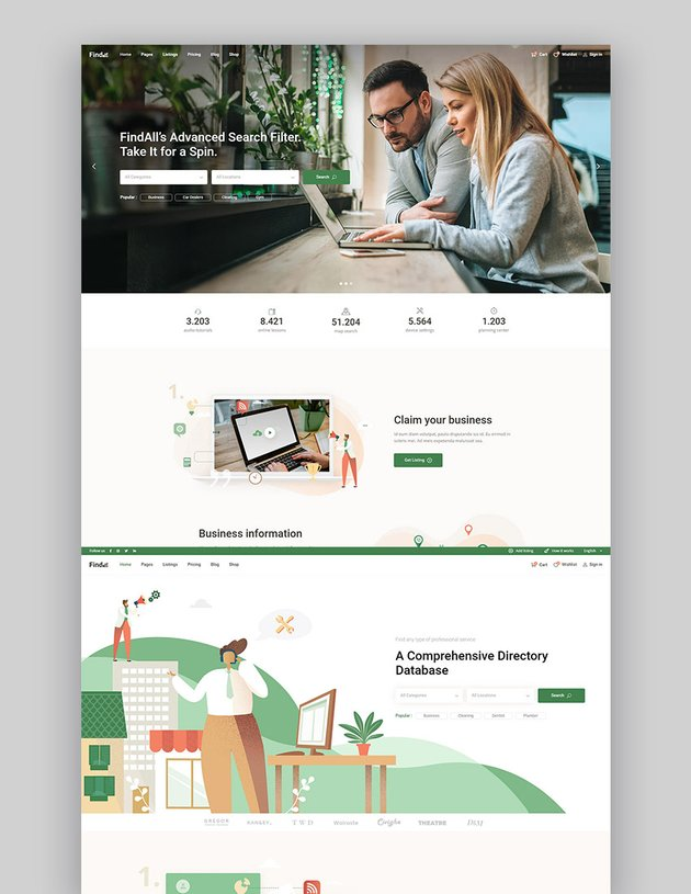 FindAll - Business Directory Theme