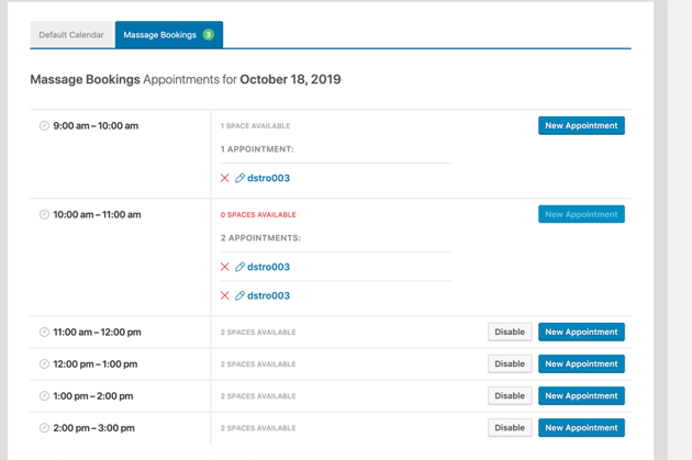 view appointments