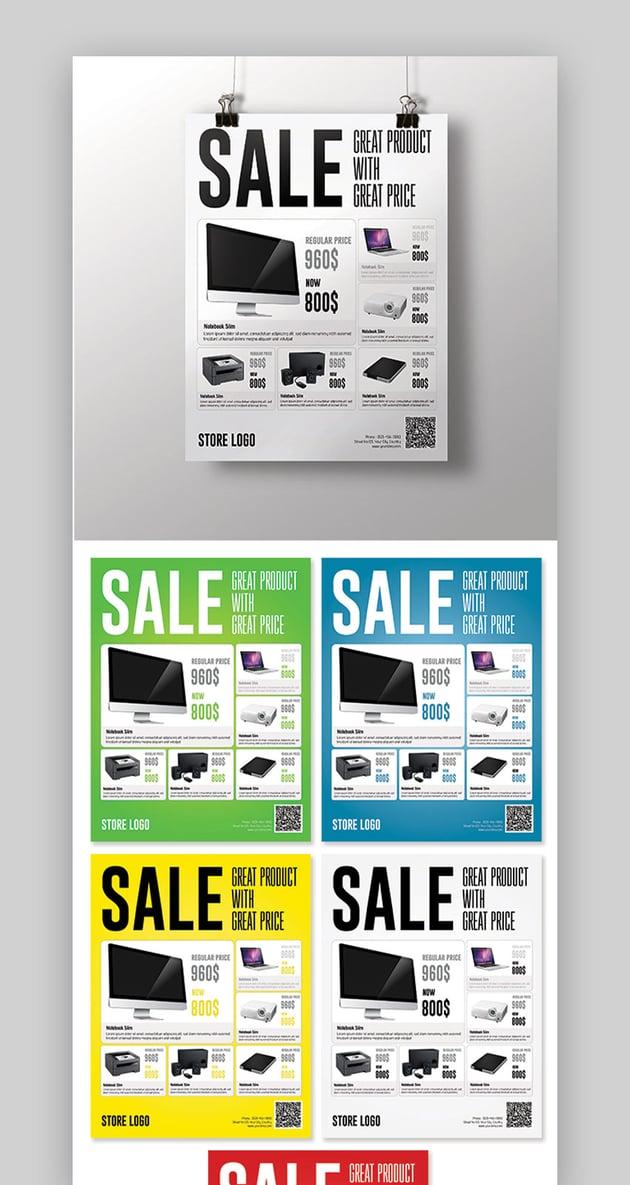 Five Color Sale Flyer