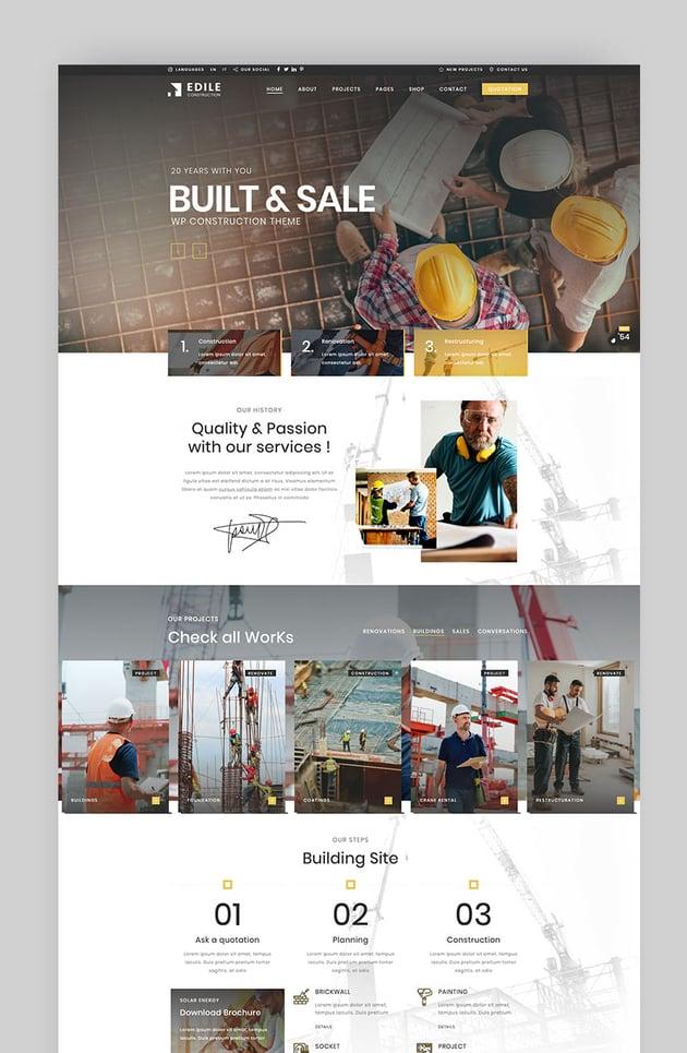Construction Edile Construction Company WP Theme