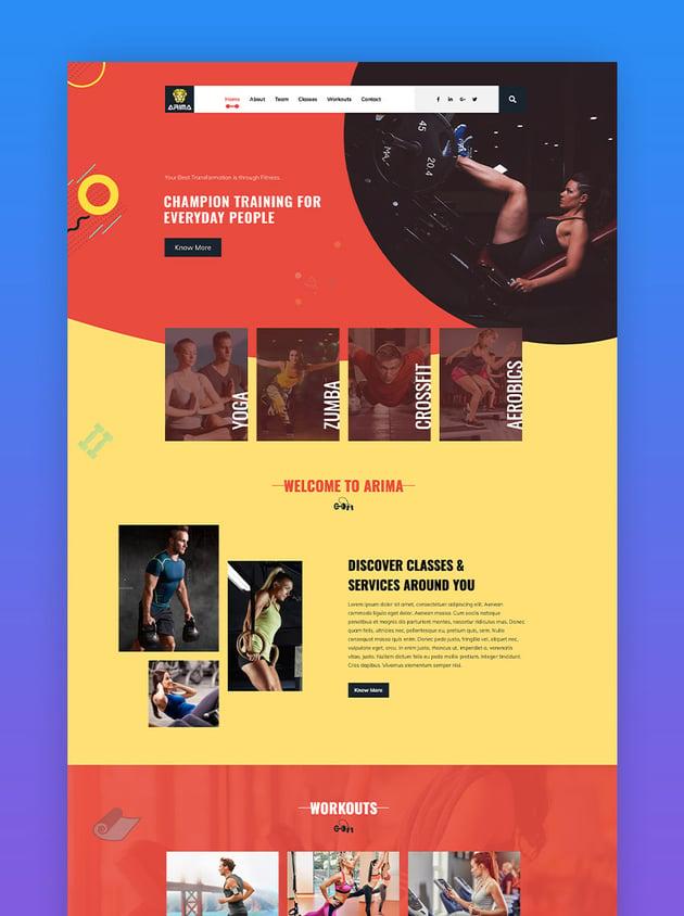 Arima - Crossfit Gym WordPress Theme