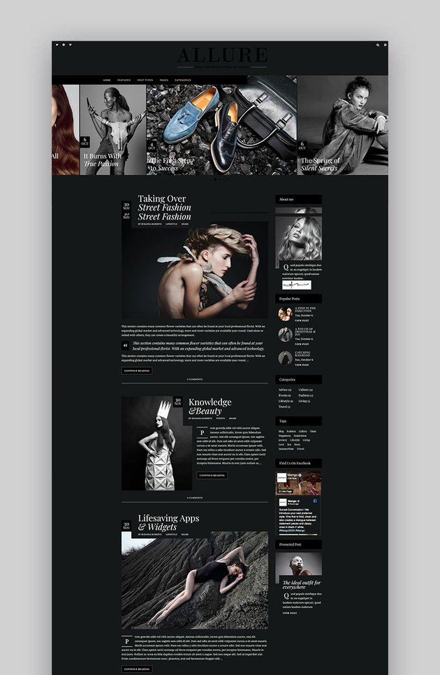 Allure - Beauty  Fashion Blog Theme