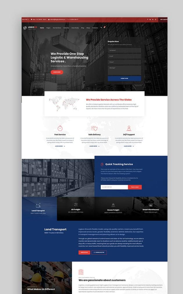 Logisco - Logistics  Transportation WordPress