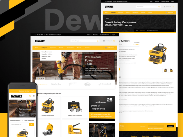 DeWalt Concept Ecommerce Website Sketch Resource