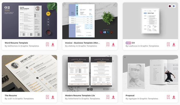 Best-Selling Microsoft Word Templates on Envato Elements