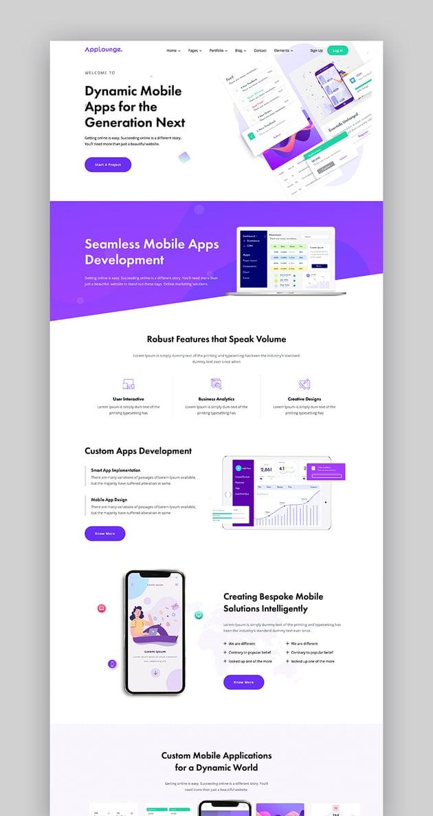 AppLounge SaaS Website Template