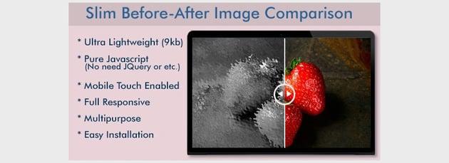 Slim Before-After Image Comparison Slider