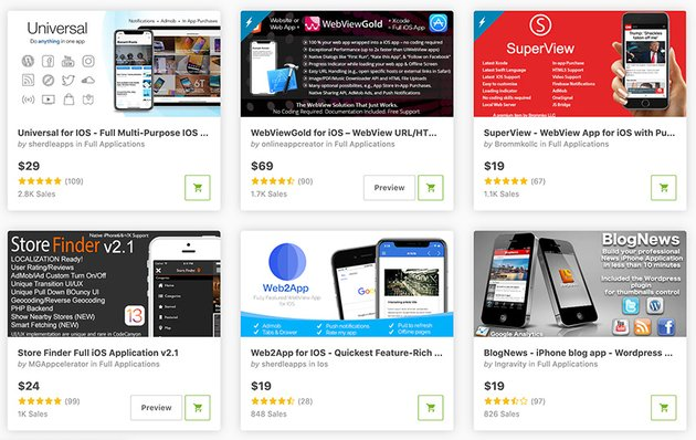 Best-Selling iOS App Templates Available on CodeCanyon