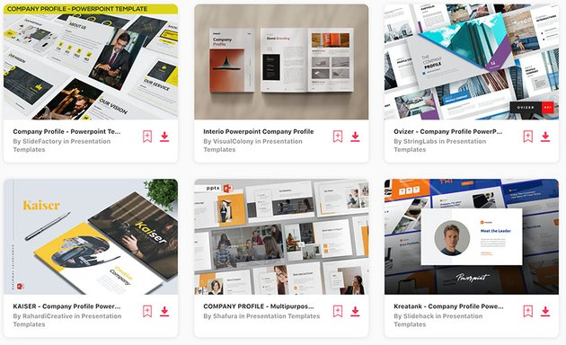 Best-Selling Company Profile Templates PowerPoint