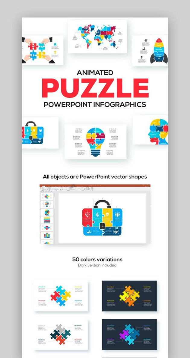 Puzzle Animated Infographic Presentation