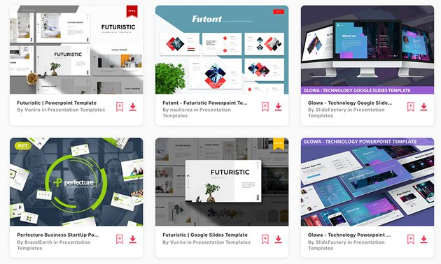 Best Selling Futuristic PowerPoint Templates on Envato Elements