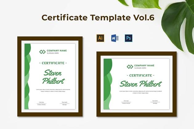 Certificate Template Vol 6