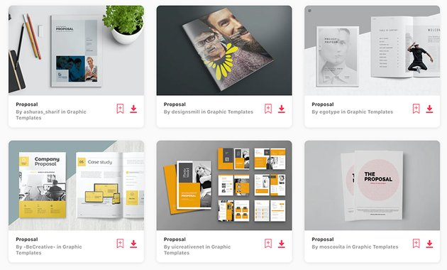Best-Selling Freelance Proposal Templates on Envato Elements