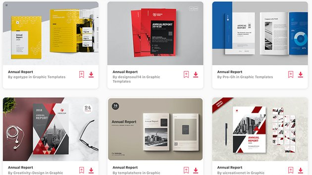 Best Selling Word & Google Docs Annual Report Templates on Envato Elements