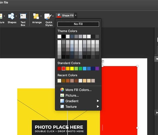 Change Shape Colors