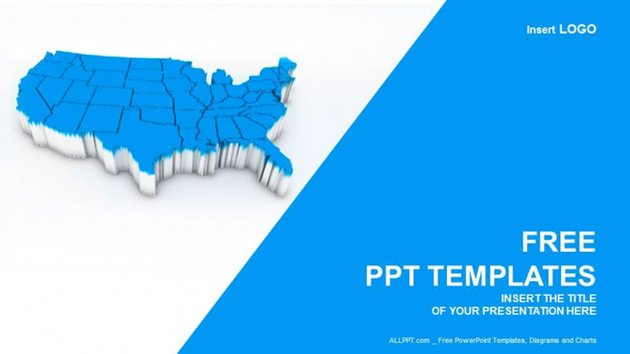 Editable US Map PowerPoint Free Download