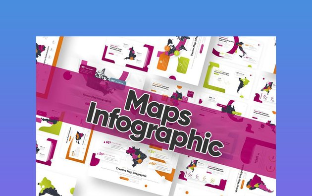 Infographic Map Template