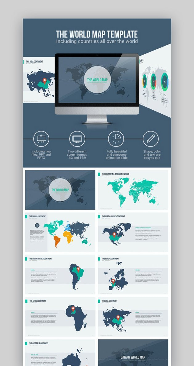 World Map PowerPoint Template - GraphicRiver
