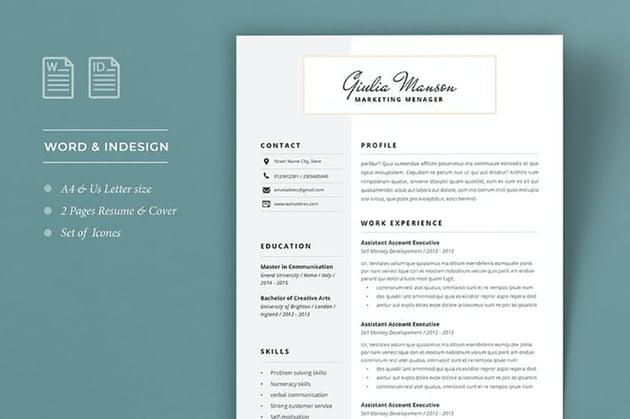 Quick Resume Format