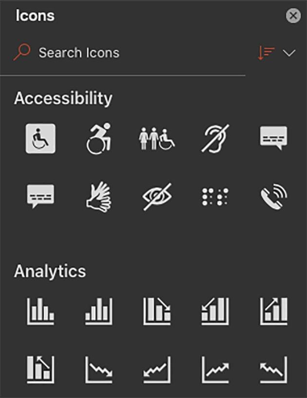 Adding Icons