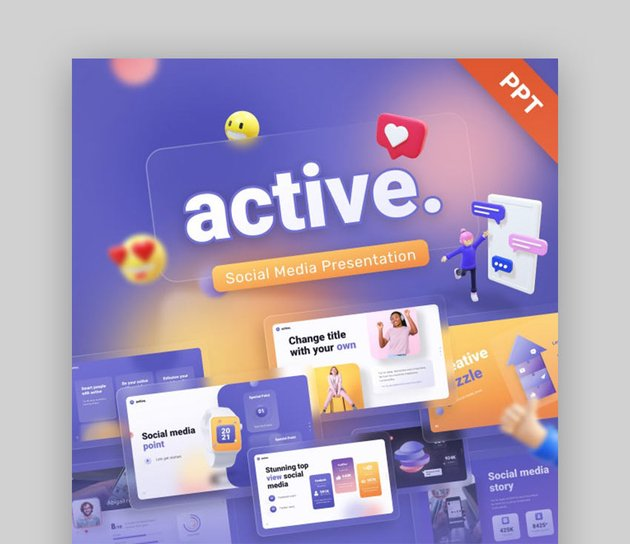 Active Social Media Creative Powerpoint Template