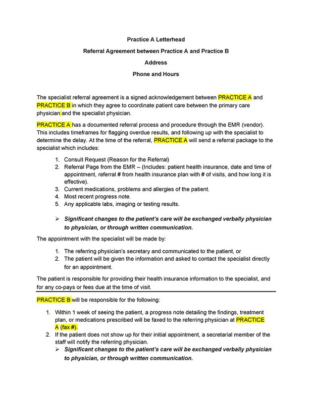 Referral Agreement Templates