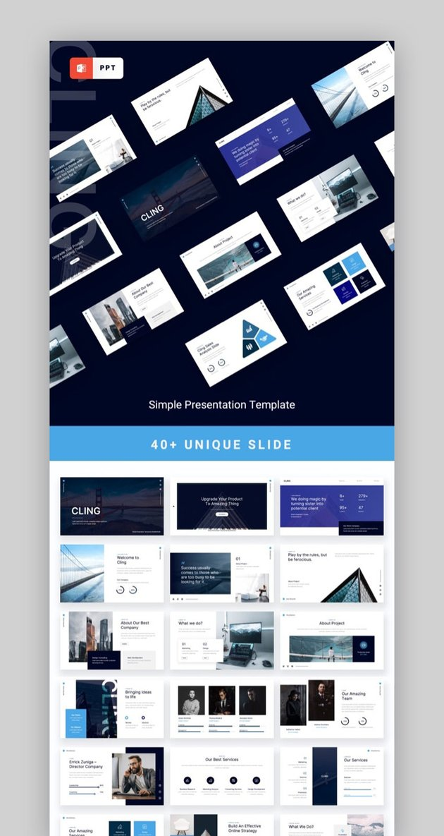 CLING - Simple Presentation Powerpoint Template