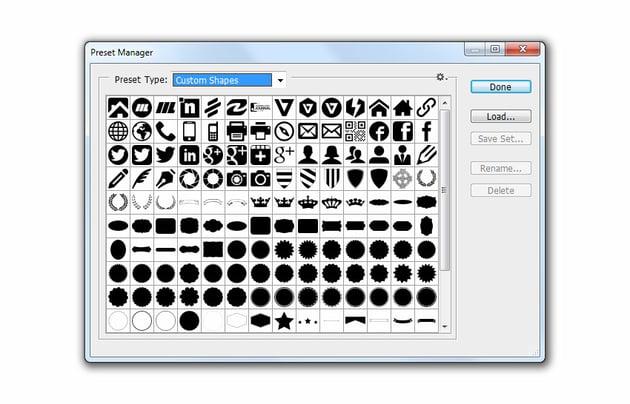 Install photoshop custom shapes