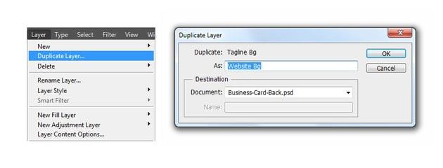 Duplicate layer to website bg