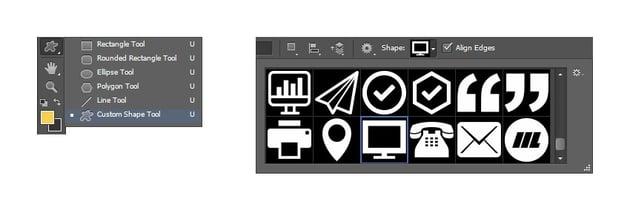 Select website custom shape