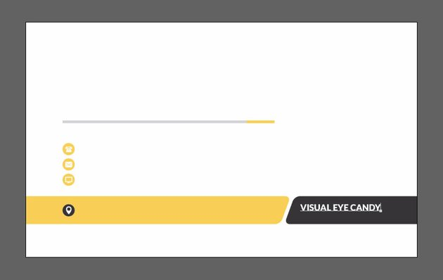 Create tagline text layer